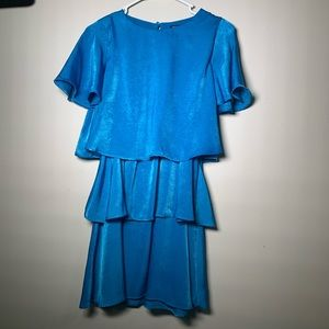 Zara Blue Ruffle Dress